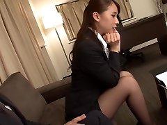 Nevjerojatan Japanese girl Юи Обы na ludi masturbacija, nadkoljenice jau video