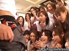 Bela Japonesa alunas explorar