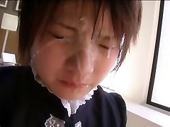 Intense Japanese doll facial cumshot compilation 2.  (Censored)