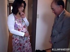 Super-hot Japanese model gets poked in all her fuck-holes