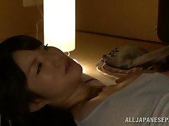 Hot Asian cougar Chizuru Sakura fucks with her neighbor