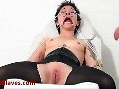 Bizarro asiático médica bdsm e oriental Mei Maras extrema médico fetiche