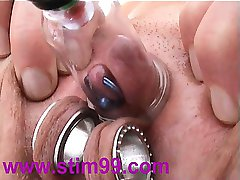 Pumping Clitoris Tied Bondage Pumped to Pierced Nipples