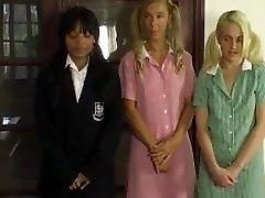 Three girls caning
