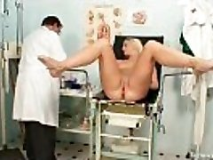 Vagina exam of an attractive beautiful blonde