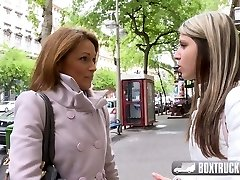 Hot Szilvia Lauren surprised by the girl-on-girl model agent