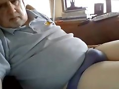Grandpa has a fat cock