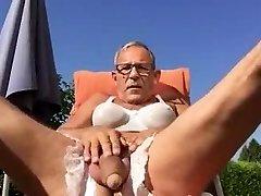 elder man wanking