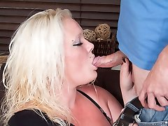 Obese blonde slut destroys marriage of her bff by doing the super-naughty hubby