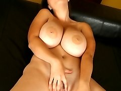 Terry starts the set with a beautiful solo session. Fingering her wet shaved slit, Terry also plays with her huge tits as she starts to moan and squirm all over the bed sheets.