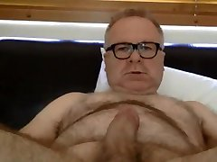 Hot hairy daddy stroking  2