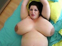 biggest boobies ever on a 9 month preggo milf