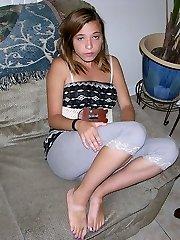 Amateur Petite Teen Blonde Gal Spreading Little Ass - Alice W. Model