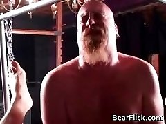 Hair gay bear in a hardcore BDSM fuck part5
