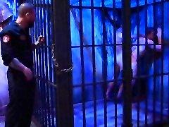 Rocco Steele fucks two inmates hard