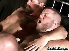 Orgy with big ass gay bear fucking part5