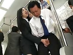 Asian Hand-job In Bus