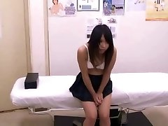 Asian schoolgirl (18+) medical check-up