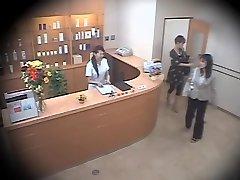 Two cute Asians screwed stiff in hidden cam massage video