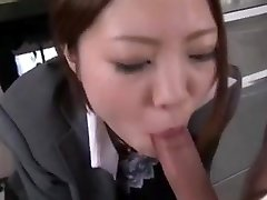 Japanese office deepthroat