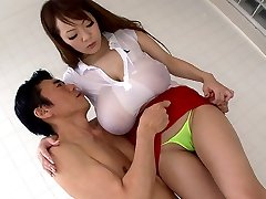 Crazy Japanese chick Hitomi Tanaka in Best JAV censored Bathroom, Massive Tits movie