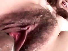 Jun Mise gets a huge dick to enlarge her wet thicket