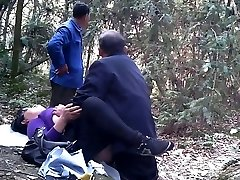 Elderly Men In The Wood