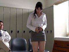 JAV starlet Rei Mizuna lecturer striptease Subtitles
