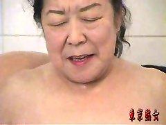 Japanese granny enjoying sex