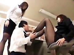 Worshipping Nylon Covered Asian Feet