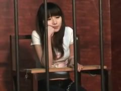 Asian teen with chains