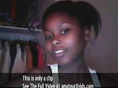 cute black teen on cam