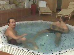 anal action at the sauna