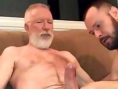 Sucking old guys large cock