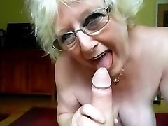 granny nice suck off and mistress gives enormous cock hj