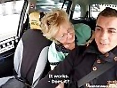 Czech Mature Blondie Greedy for Taxi Drivers Cock