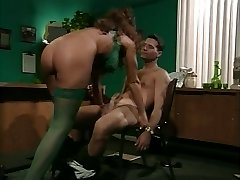 retro chesty milf anal in office