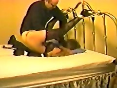 Horny amateur Spanking, Retro sex tape