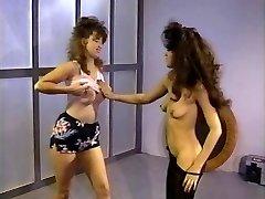 Antique lesbians going crazy in gym
