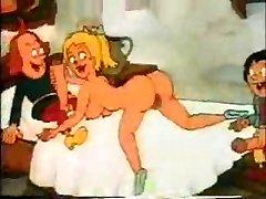 Cartoon retro Screwing