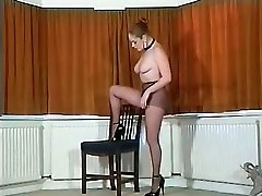 Glorious British huge-titted pantyhose teaser