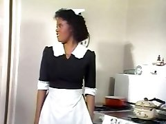 Black Maid Jeannie Gets Antique Cock