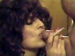 Retro Smoking Blowjob & Cum-shot