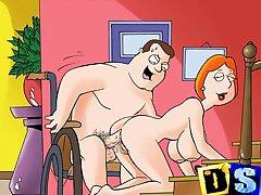 Famosos héroes de dibujos animados ir porno