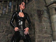 Sandra Romain playing with slave