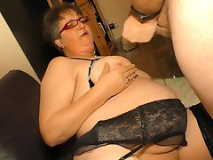 XXX Omas - Amateur German granny takes cock and cum on tits
