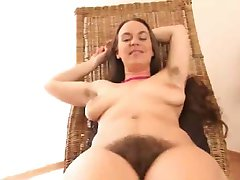 Erin Working Hard Her Hairy Pussy BVR