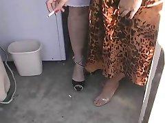 Two Hotties In Lingerie Smoking 120s