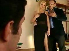 Papa - Nice blonde gets dual penetrated