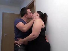 Monstrous mommy kiss suck and fuck young son